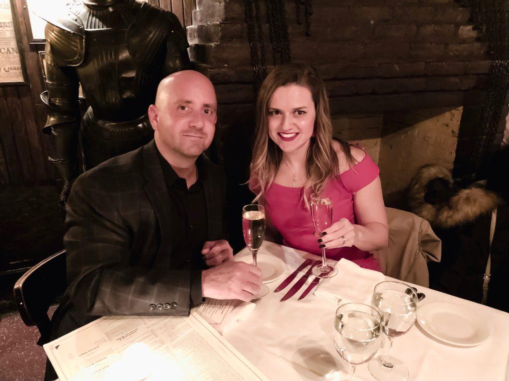 Keen's steakhouse anniversary dinner