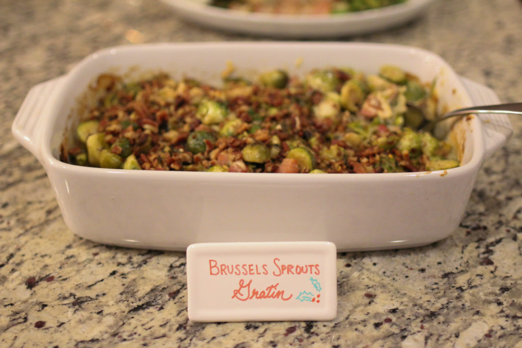 Brussels Sprouts Gratin with Pancetta