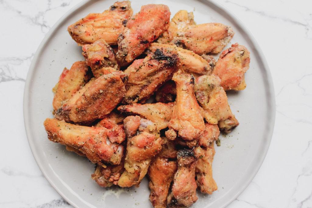 Baked Salt and Vinegar Chicken wings