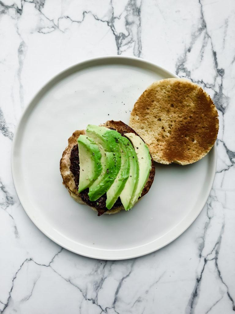 Sausage, Egg, Avocado Muffin