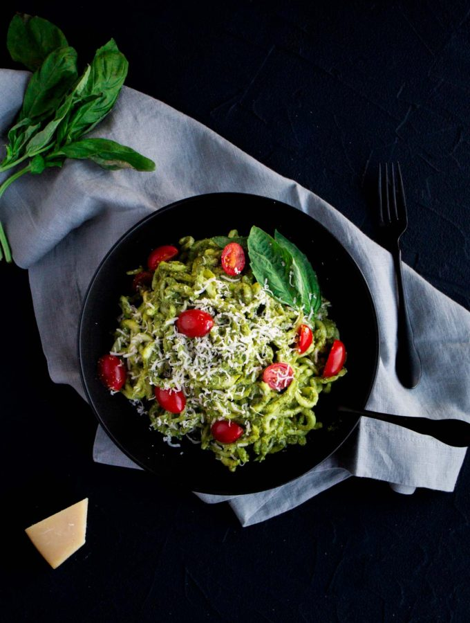 Zoodles and Pesto