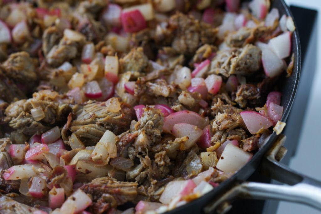 Pork and Radish Hash