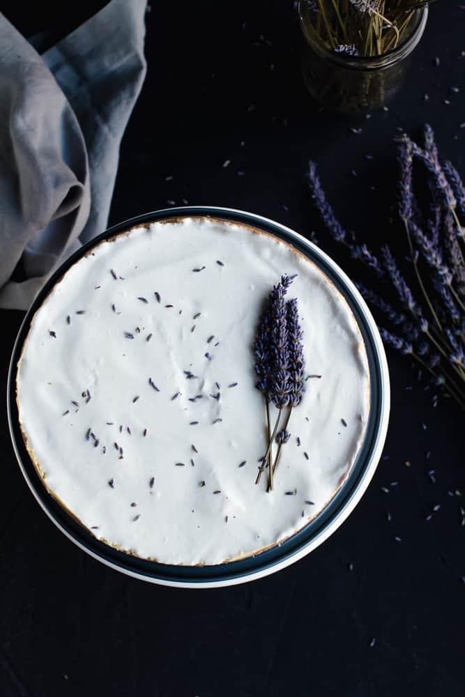 keto lavender cheesecake