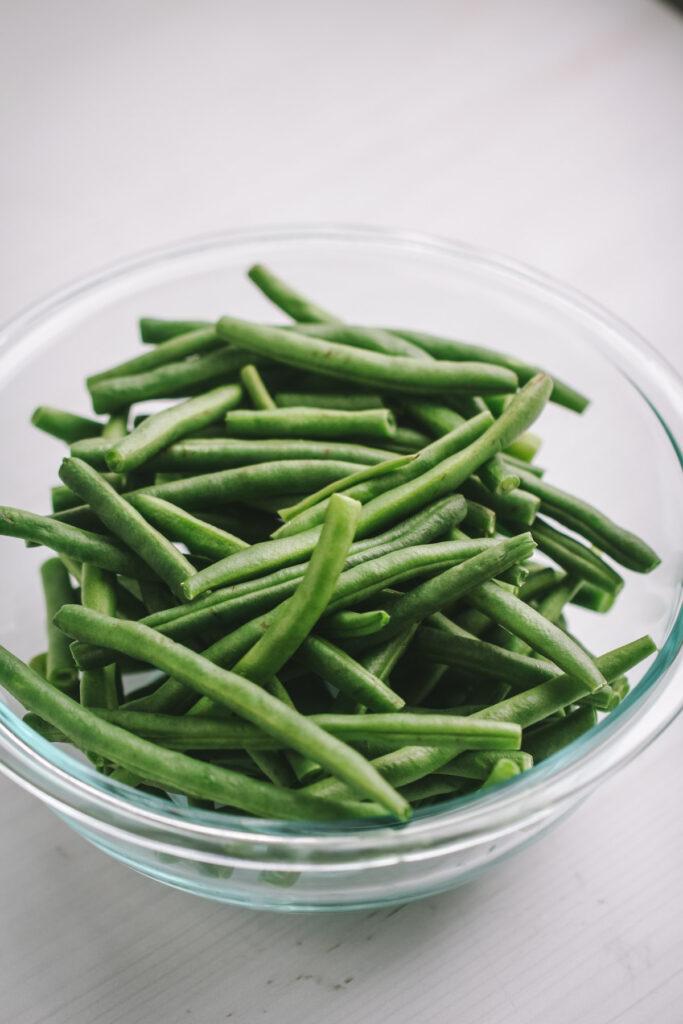 green bean in bowl